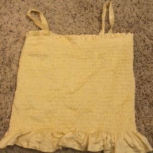 Cute brand new tilly yellow kids tube top tank top